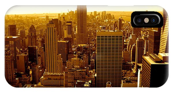Manhattan And Empire State Building IPhone Case