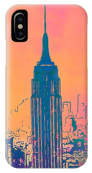 Empire State Building iPhone Case - Empire State Building Pop Art by Dan Sproul