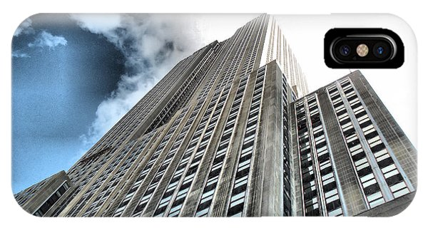 Empire State Building - Vertigo In Reverse IPhone Case