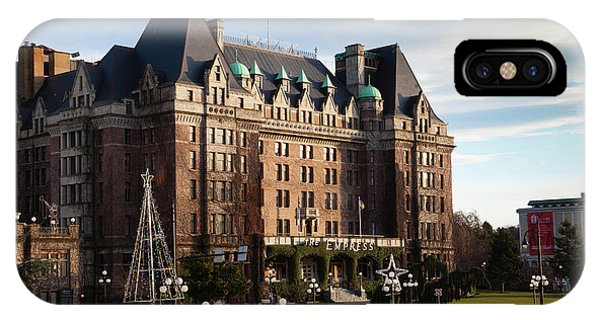 British Empire iPhone Case - Empress Hotel, Victoria, Vancouver by Panoramic Images