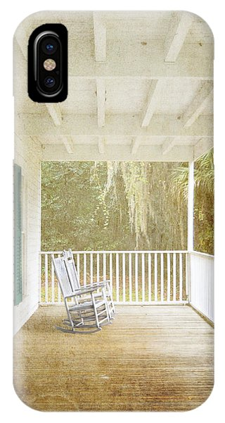 IPhone Case featuring the photograph Empty Chairs by Judy Hall-Folde