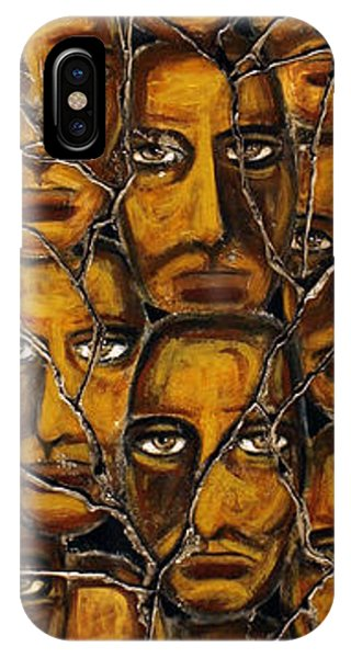 Bogdanoff iPhone Case - Empyreal Souls No. 5 - Study No. 1 by Steve Bogdanoff