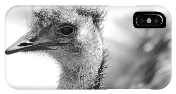 Emu - Black And White IPhone Case