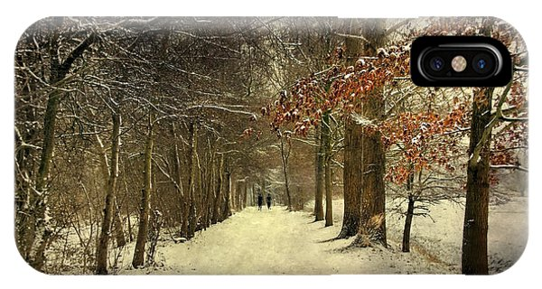 Enchanting Dutch Winter Landscape IPhone Case