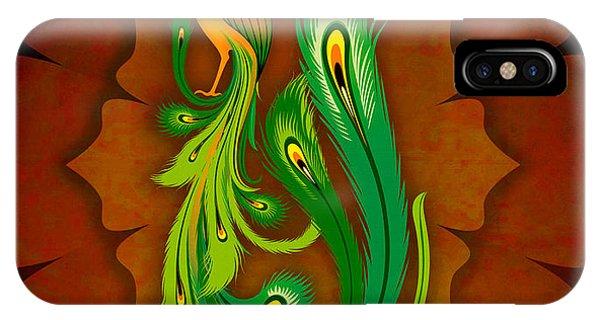 Enchanting Peacock 1 IPhone Case
