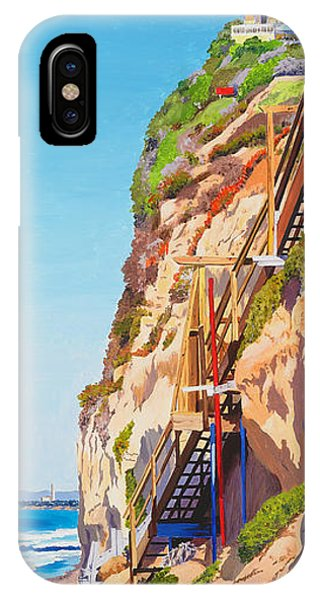 Seagull iPhone Case - Encinitas Beach Cliffs by Mary Helmreich