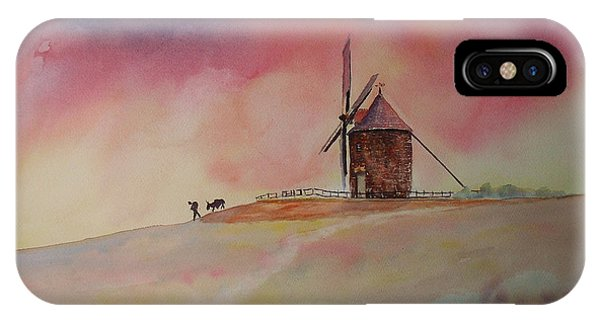 End Of The Day Windmill Of Moidrey IPhone Case