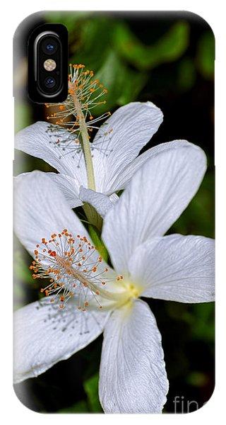 Endangered Koki'o White Hibiscus IPhone Case