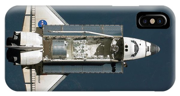 Earth Orbit iPhone Case - Endeavour Approaching The Iss by Nasa/science Photo Library