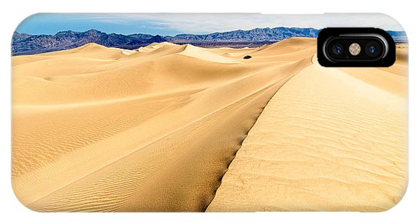 Endless Dunes - Panoramic View Of Sand Dunes In Death Valley National Park IPhone Case