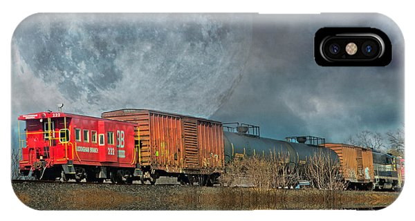 Red Caboose iPhone Case - End's Reflection by Betsy Knapp