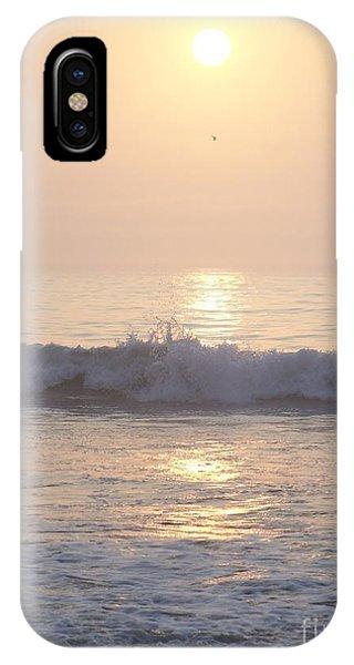 Hampton Beach Wave Ends With A Splash IPhone Case