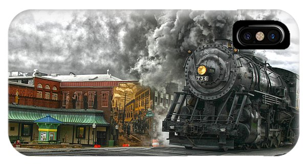 Engine 734 On The Western Maryland Scenic Railroad  IPhone Case