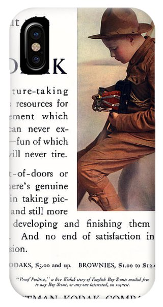 English Boy Scout. Circa 1913. IPhone Case