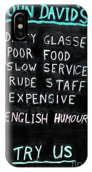 English Humor IPhone Case