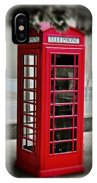 English Phone Booth 1 IPhone Case