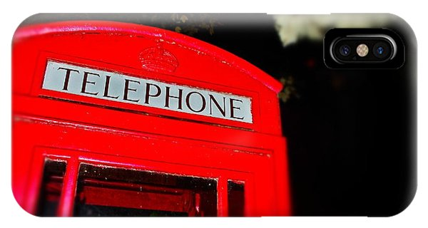 English Phone Booth 2 IPhone Case