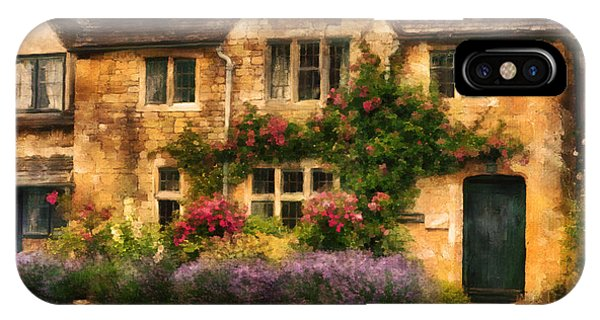 English Stone Cottage IPhone Case