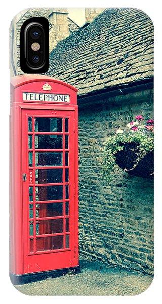 English Telephone Box Phone Case by Marie  Cardona