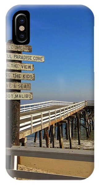 IPhone Case featuring the photograph Enjoy Malibu by Michael Hope