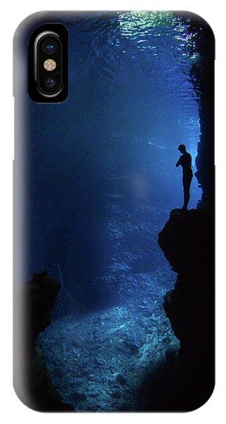 Dive iPhone Case - Enjoy The Silence by Erez Beatus