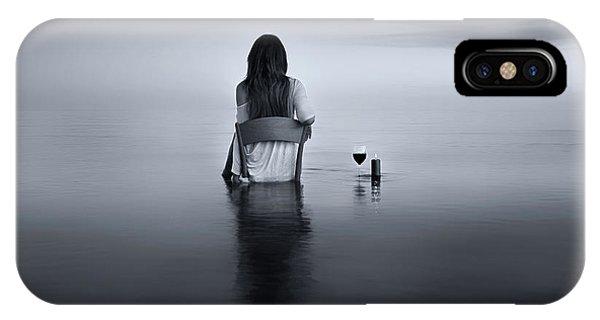 Glass iPhone Case - Enjoy The Silence by Maria Kaimaki
