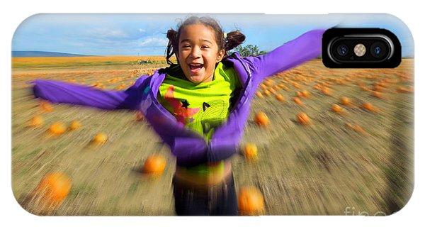 Enjoying Pumpkin Patch IPhone Case