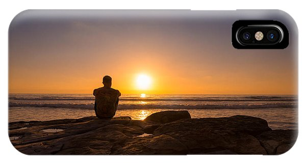 Scripps Pier iPhone Case - Enjoying The View by Michael Ver Sprill