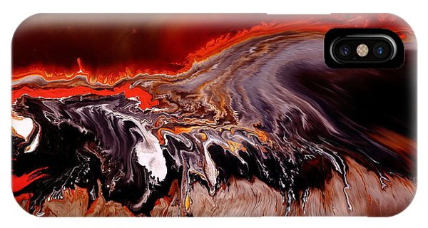 Enormous Power Wall Red Abstract Art By Kredart IPhone Case