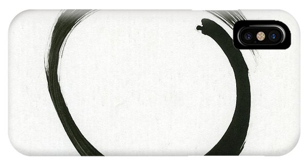 Enso #1 - Zen Circle Minimalistic Black And White IPhone Case