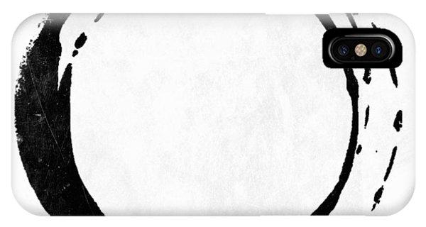 Enso No. 107 Black On White IPhone Case