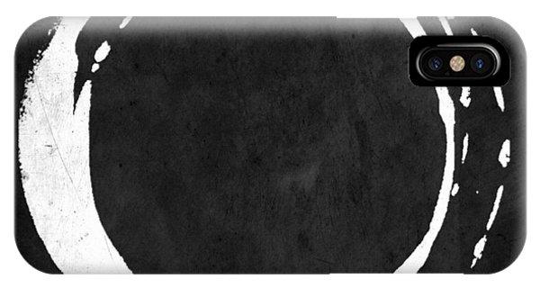 Enso No. 107 White On Black IPhone Case