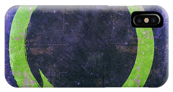 Enso No. 108 Green On Purple IPhone Case