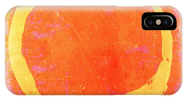 Enso No. 109 Yellow On Pink And Orange IPhone Case