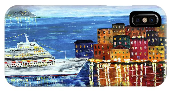 IPhone Case featuring the painting Entering Port by Kevin  Brown