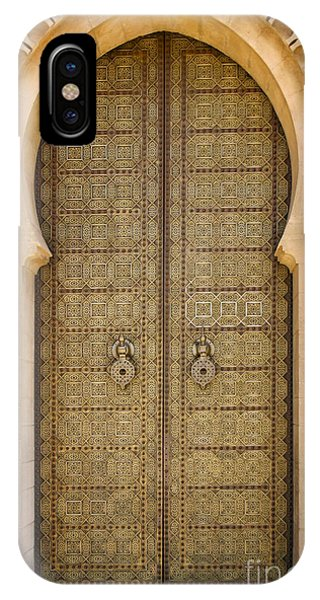 Entrance Door To The Mausoleum Mohammed V Rabat Morocco IPhone Case