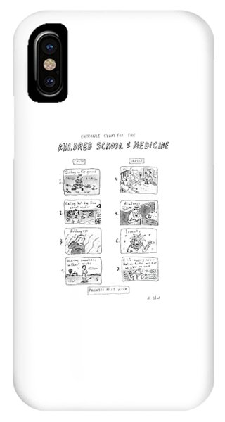 Entrance Exam For The Mildred School Of Medicine IPhone Case