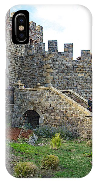 Entrance To Castello Di Amorosa In Napa Valley-ca IPhone Case