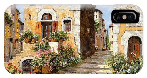 Gateway Arch iPhone Case - Entrata Al Borgo by Guido Borelli