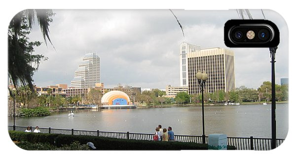 Eola Park In Orlando IPhone Case