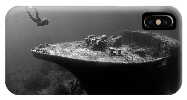 Dive iPhone Case - Epave De La Picorella - Picorella's Wreck by Eric Volto