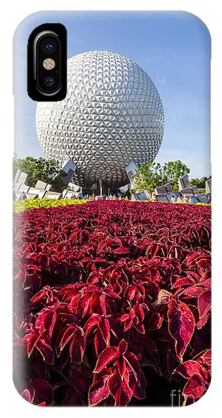 Epcot Spaceship Earth IPhone Case