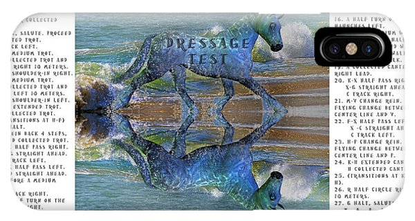 Office iPhone Case - Epona Equine Dressage Test  by Betsy Knapp