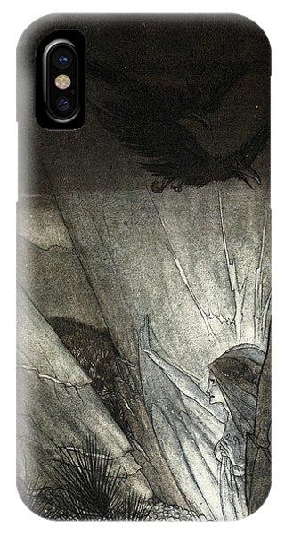 Raven iPhone Case - Erda Bids Thee Beware, Illustration by Arthur Rackham