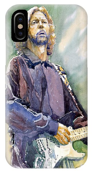 Portret iPhone Case - Eric Clapton 05 by Yuriy Shevchuk