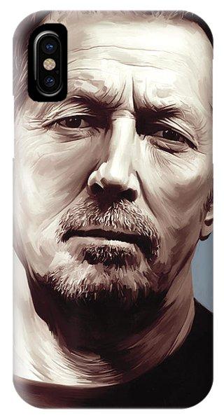 Eric Clapton iPhone Case - Eric Clapton Artwork by Sheraz A