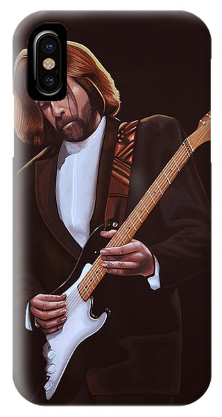 Tear iPhone Case - Eric Clapton Painting by Paul Meijering