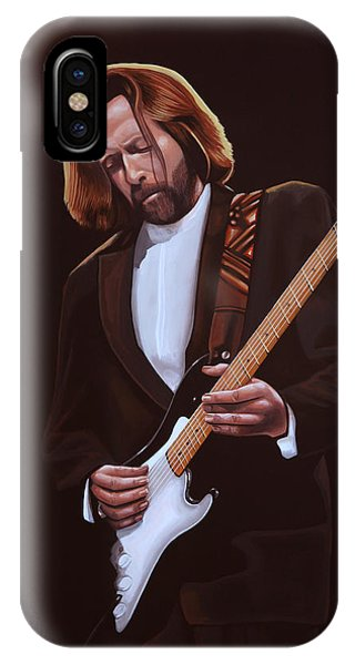 Popstar iPhone Case - Eric Clapton Painting by Paul Meijering