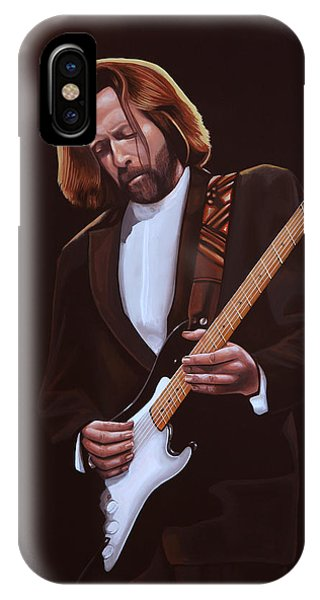 Eric Clapton iPhone Case - Eric Clapton Painting by Paul Meijering