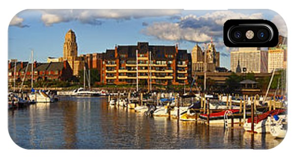 Erie Basin Marina Panorama IPhone Case